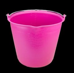 Emmer 15 l met schenktuit roze