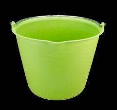 Emmer 15 l met schenktuit limoen groen