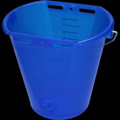 Kalveremmer blauw transparant 2-zijdig plat