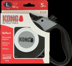 Kong Retractable Leash Reflect Grijs L (5m/50kg)