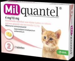 Milquantel 4 mg/10 mg Kitten/Kat Klein 2 tabl. 0,5-2kg