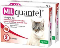 Milquantel 4 mg/10 mg Kitten/Kat Klein 4 tabl. 0,5-2kg