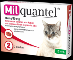 Milquantel 16 mg - 40 mg Kat Groot 2 tabl. vanaf 2kg
