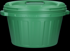 Voerton met draaisluiting 40 liter Green