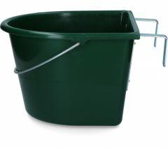 Voerbak 15 l + ophang + hengsel groen