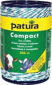 Compact kunststofdraa1d wit/groen 200m
