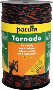 Tornado schrikkoord bruin/oranje, 200mtr