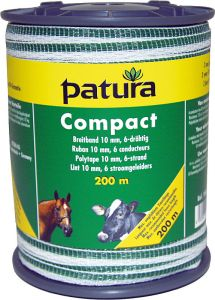Compact lint 10mm wit/groen, 200m rol