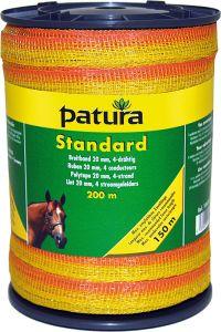 Standaard lint 20 mm, geel/oranje 200 meter