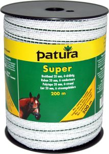 Super lint 20mm wit/groen, 200m rol