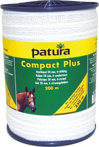 Compact Plus lint 20 mm wit, 200 meter rol