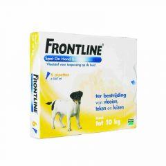 Frontline hond S 2-10 kg 6 pipetten