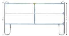 Paneel-3 koppelhek, gegalvaniseerd, 3,60 x 1,70 mtr.