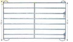 Paneel-8 koppelhek, gegalvaniseerd, 2,40 x 1,94 mtr.