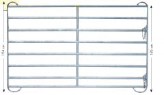 Paneel-8 koppelhek, gegalvaniseerd, 3,60 x 1,94 mtr.