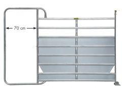 Paneelhek met frame Plus, 3,05 x 2,10 mtr
