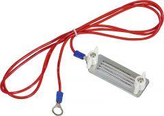 Lintaansluitkabel B-band met rvs klemplaten 40mm,  8 mm vorkschoen