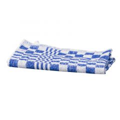 Handdoek blauw/wit