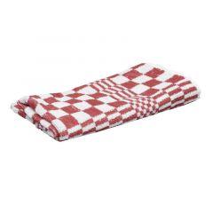 Handdoek rood/wit