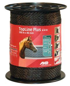 AKO TopLine Plus bruin schriklint 4 cm-200 meter