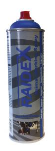 Merkspray Raidex Premium blauw  V/Rv 500 ml