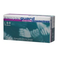 Melkershandschoen SG blauw nitril poedervrij  L