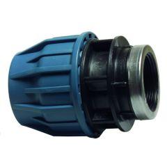 PE Tyleenkoppeling + binnendraad 20mm x 3/4