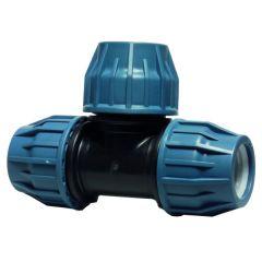 T-stuk PE koppeling 90 graden, 25mm
