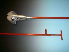 Putschep 15 cm vierkant met steel 200 cm