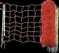 Schrikdraadnet, 106 cm hoog,met dubbele punt, 50 mtr.