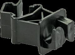 Standaard isolator voor T-palen,zwart voor draad, kunststofdraad, koord (25 stuks)