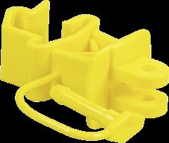 Standaard isolator met pin voor T-palen,geel (25 stuks/verpakking)