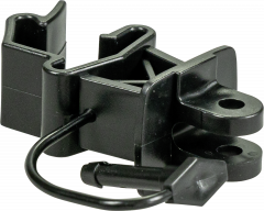 Standaard isolator met pin, zwart( 25 stuks/pak)