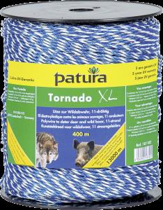 Tornado XL kunststofdraad, blauw/wit, 400 meter. Schrikdraad tegen wolven en wild