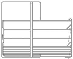 Paarden veiligheidspaneel met poort 3,60 x 2,40 mtr