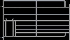 Steekfix hek XL met kruipgat voor lammeren 1,83 x 1,10 mtr