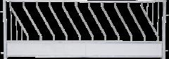 Diagonaal voerhek voor schapen, 2,75 x 1,00 mtr