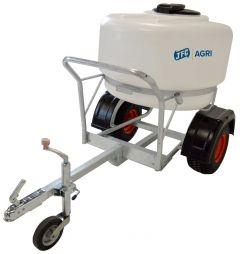 Quad watertank 340 liter, getrokken melktransporter met aftapkraan
