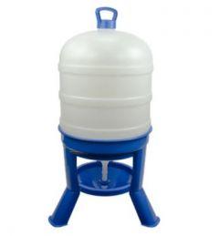 Pluimvee drinktoren 20 liter blauw met sifon op pootjes