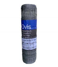Schapengaas Ovis 50 meter, 80 cm, 8dr, 2.4/1.9, licht, dubbel verzinkt