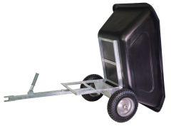 Kiep aanhanger 350 liter, voor quad en zitmaaier