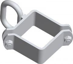 Zadelklem 90, 1 grendelhouder lichtvoor lichte poorten, verzinkt