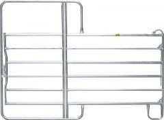 Paneelhek met poort, gegalvaniseerd,  2,20 x 2,40 mtr.
