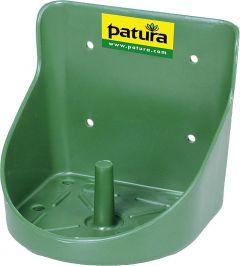 Kunststof liksteenhouder, voor 10 kgsteen, rond, groen