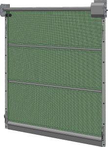 Agrarische poort 6,0/6Breedte 6,0 m, hoogte 6,1 m zonde motor en schakelaar