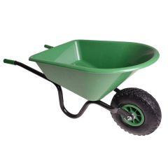 Groene kinderkruiwagen metaal/kunststof
