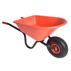 Rode kinderkruiwagen metaal/kunststof