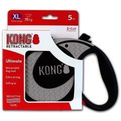 Kong Retractable Leash Ultimate Grey X-Large 5m (70 kg)