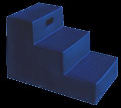 Opstaphulp 3 treden blauw