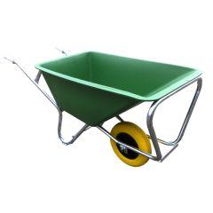 Eenwielige kruiwagen, 160 liter met ANTI-LEK band